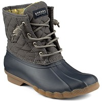 Women's Saltwater Quilted Duck Boot in Graphite by Sperry