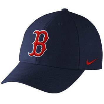 Men's Boston Red Sox Nike Navy Wool Classic Adjustable Dri-FIT Hat