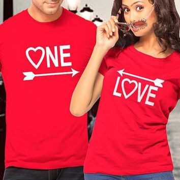 Couple T Shirt for Lovers One Love Arrows To Each Other Graphic Tees