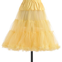 Va Va Voluminous Petticoat in Yellow | Mod Retro Vintage Underwear | ModCloth.com