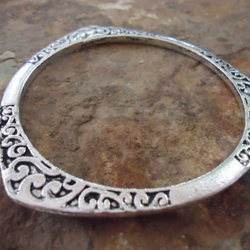 studded BRACELET BANGLE sturdy tibean silver