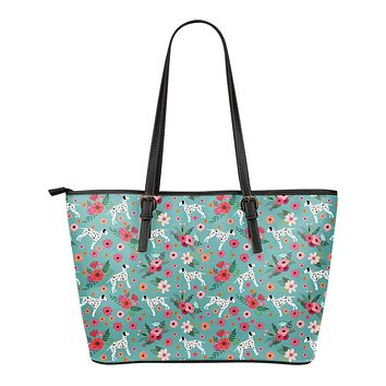 Dalmatian Flower Tote Bag