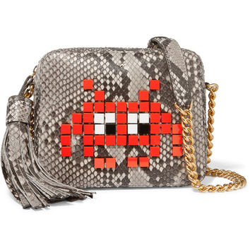 Anya Hindmarch - Appliquéd python shoulder bag