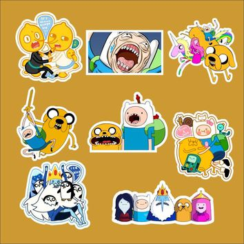 8pcs/lot Adventure time styla B Notebook refrigerator skateboard trolley case decals backpack Tables waterproof car sticker