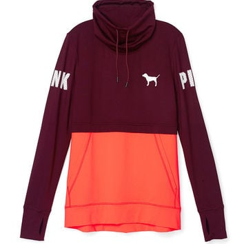 Ultimate High-Neck Pullover - PINK - Victoria's Secret