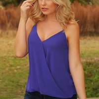 There's No Place Like The Outdoors Top: Indigo - Blouses - Tops