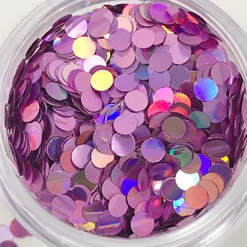 Glitter Dots - Light Purple