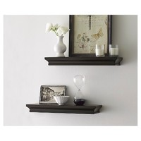 Threshold™ Set of 2 Traditional Shelves - Brown (...: Target