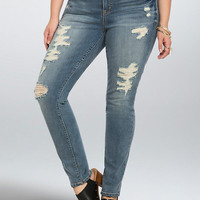 Torrid Skinny Jeans - Light Wash with Destruction (Regular)