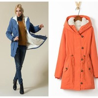Winter Cotton Lovely Plus Size Jacket [61751361561]