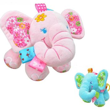 2Style Baby toys Musical Soft Elephant Bed Baby Carriage Bells Infant Appease Toys Baby Rattles Mobiles