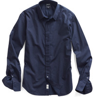 Placket Shirt in Navy Print