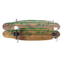 KROWN PINTAIL KREX BAMBOO GRAPHIC LONGBOARD COMPLETE 9X43