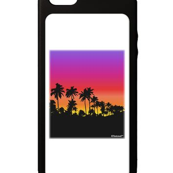 Palm Trees and Sunset Design iPhone 5C Grip Case  by TooLoud