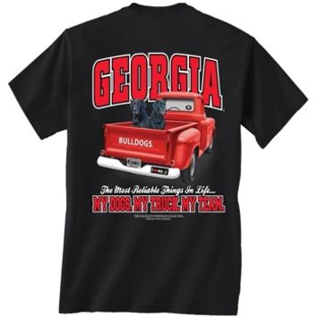 UGA My dogs My Truck My Team T-Shirt | UGA Men's T-Shirt | Georgia T-Shirt