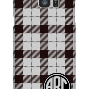 Plaid Monogram Galaxy Note 5 Slim Case