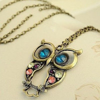 retro pierced engraved cute OWL-free shipping from ClothLess
