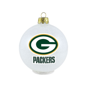 Green Bay Packers Ornament - LED Color Changing Ball