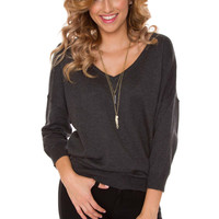 Mila Sweater - Charcoal