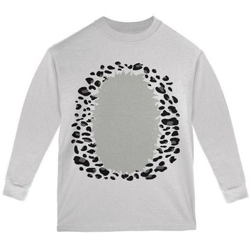 CREYCY8 Halloween Snow Leopard Costume Youth Long Sleeve T Shirt