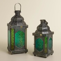 Cool Sabita Embossed Glass Tabletop Lanterns - World Market