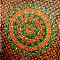Indian Camel Tapestry, Hippie Wall Hanging , Green Camle Mandala Tapestry, Bedspread Beach Coverlet throw, Bohemian Twin Wall Hanging