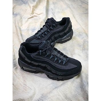 Nike Air Max 95 Black Sport Running Shoes - Sale
