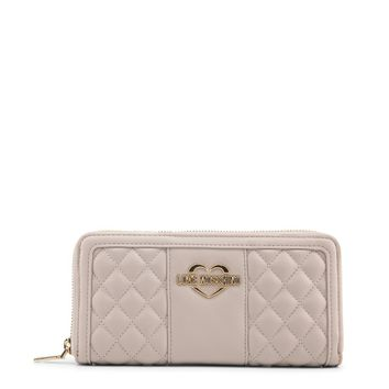 Love Moschino Brown Quilted Wallet