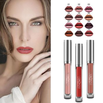 Matte Liquid Lipstick Waterproof Long Lasting Makeup Lip Gloss Cosmetic Lips Stick For Sexy Party Makeup ToolHB88