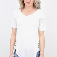 Button It U-Hem Tunic {Ivory}
