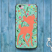 Cute Disney Bambi Flower Floral Case Cover iPod Touch iPhone 4 4s 5 5s 5c 6 Plus