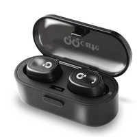 QQCute Twins Wireless Bluetooth Headset V4.1 Bluetooth Headphones with Built-in Mic and Portable Charging Case Noise Cancelling Stereo Mini earbuds for Samsung iPad iPhone Android Phones