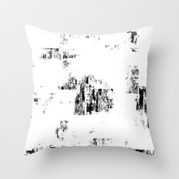 Glitch Panda 9 Throw Pillow by HappyMelvin Graphicus