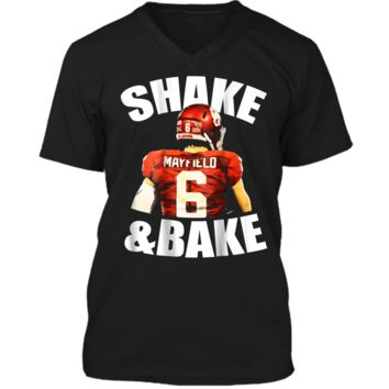 Shake And Bake  Mens Printed V-Neck T
