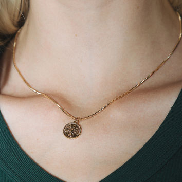 Gold Bird Coin Necklace - Jewelry - Accessories