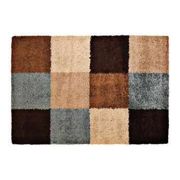 Surya Concepts Checkered Shag Rug (Beige)