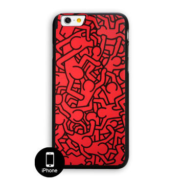 Keith Haring Colors Go Back iPhone 6 Plus Case