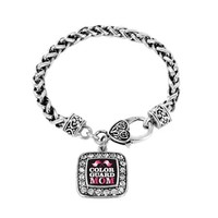 Color Guard Mom Classic Braided Charm Bracelet @ Inspired Silver