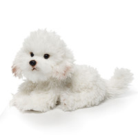 Nat and Jules Plush Bichon Frise - 11-1/2-in