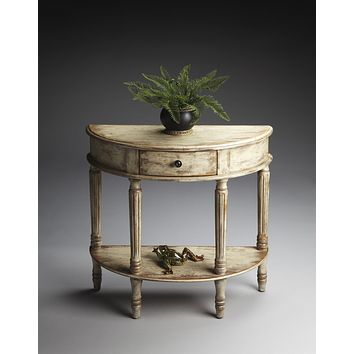 Mozart Chateau Gray Demilune Console Table by Butler Specialty Company 0667230