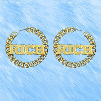 Rich Gold Chain Earrings from ☯ harajuku alien ☯