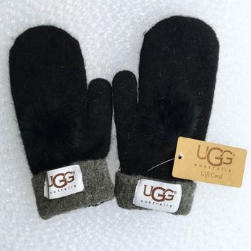 UGG Winter Woman Men Knit Gloves-4
