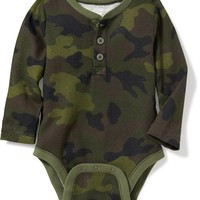 Henley Thermal Bodysuit for Baby | Old Navy