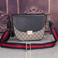 GUCCI Women Shopping Leather Crossbody Satchel Shoulder Bag H-MYJSY-BB