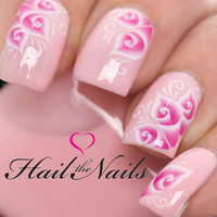 Nail Art Wraps Water Transfers Decals Lace Cana Lily Salon Quality Wedding Y1028