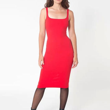 Spaghetti Strap Sleeveless Knee Length Sheath Dress