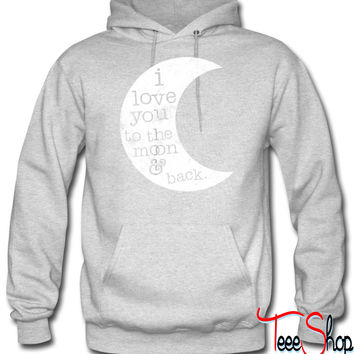I Love You To The Moon And Back (Tan hoodie