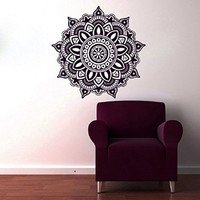 Wall Decals Mandala Indian Pattern Yoga Oum Om Sign Decal Vinyl Sticker Home Decor Art Murals Bedroom Studio Window MN342