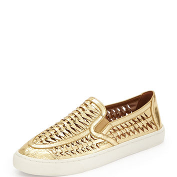 Huarache Slip-On Sneaker, Golden - Tory Burch - Gold