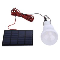 Portable Solar Power LED Bulb Lamp 0.8W/5V 150 lumens Outdoor Camping Tent Fishing Lamp Lighting